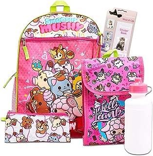 Smooshy Mushy 6 Pc Backpack School Set ~ Deluxe 16 inch Backpack, Lunch Bag, and More (Smooshy Mushy School Supplies)