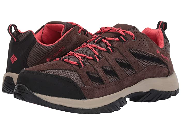 Columbia  Crestwood (Mud/Red Coral) Womens Shoes