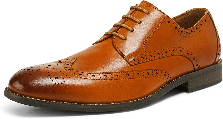 Bruno Marc Men's Genuine Leather Dress Oxfords Wingtip Shoes