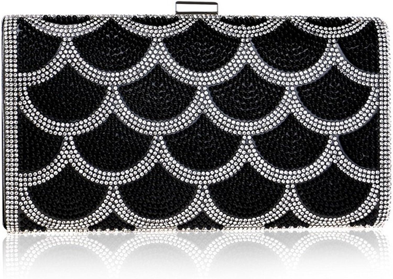 492199bfb8a59 Weiblich Pearl Abendtasche Damen Kleid Hochzeit Clutch Clutch Clutch Handtasche  Handtasche Griff Tasche (Farbe schwarz) B07MYY4XK3 Online 977f23