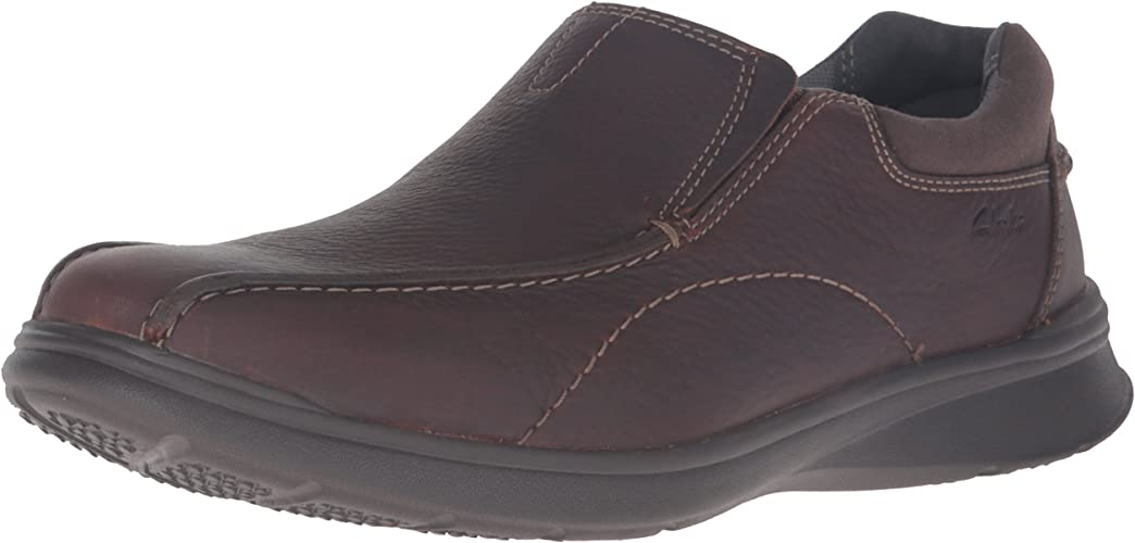 CLARKS Hommes's Cotrell Step Slip-on Loafer, marron Oily, 8.5 W US