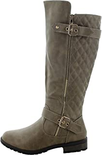 Forever Link Mango-21 Lady Boot Taupe 7.5