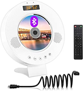 DVD CD Player with Bluetooth, Wall Mountable DVD CD Music Player with Built-in HiFi Speakers, HDMI AV Output for TV, Home ...