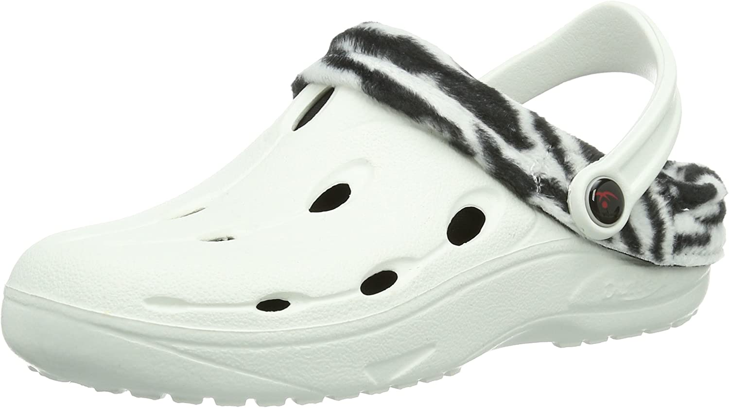 Chung -Shi Dux Winter - Heel comforting, Resilient, Toxin-Free Clog with Warm Lining White