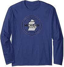 Up North Michigan 1837 Great Lakes Latitude and Longitude Long Sleeve T-Shirt