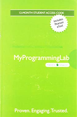 MyLab Programming with Pearson eText -- Access Code Card -- for Starting Out with Java: From Control Structures through Objects (7th Edition)