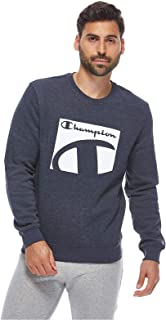 Crewneck Sweatshirt For Men, Grey, L