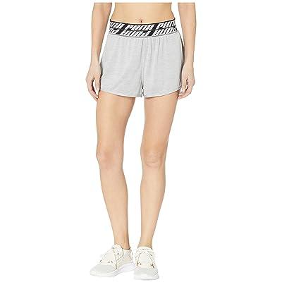 PUMA Own It 3 Shorts (Light Grey Heather) Women