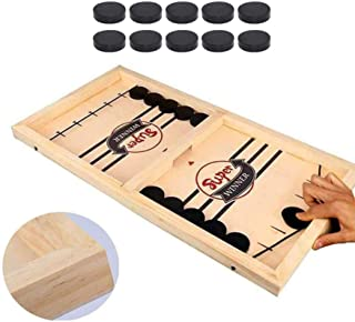SooFam 2 in 1 fast Sling Puck Game,Funny Classic Battle Board Games for Adults or Kids,طاولة الهوكى الخشبيه الطاولة الروسيه