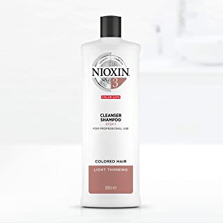 Nioxin System 3 Cleanser Shampoo for Coloured Hair with Light Thinning, 1L