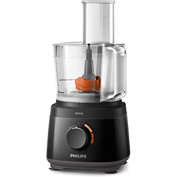 Philips Robot de cocina HR7320/10 - Robot de cocina compacto todo en uno, amasa, bate, corta,