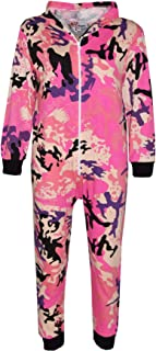 Kids Girls Boys Camouflage Baby Pink Print A2Z Onesie One Piece Jumpsuit 5-13 Yr