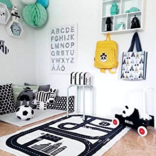 HILTOW Children Area Rug Baby Racing Game Blanket Adventure Carpet Crawling Mat Playmats Perfect Rug for Kid's Bedroom