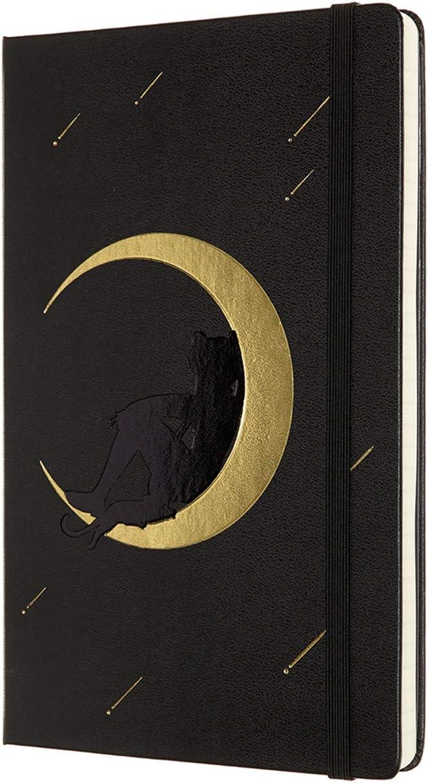 Moleskine Limited Edition Sailor Moon Notebook, Hard Cover, Ivory, Black
