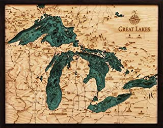 Best great lakes relief map Reviews