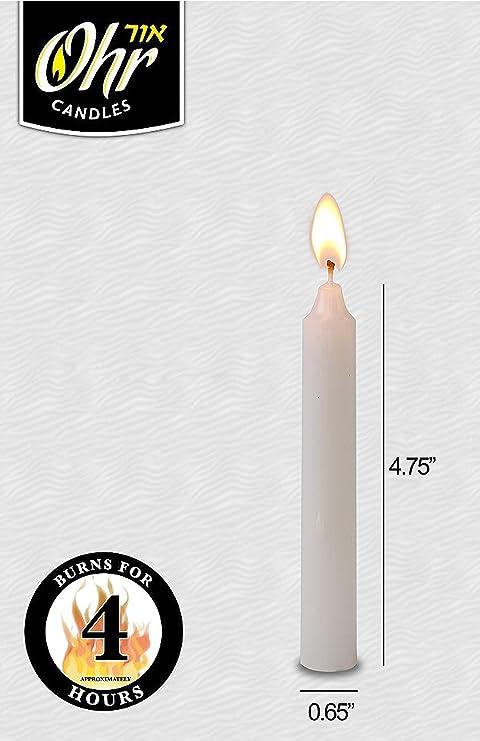 SHABBAT,+ - 4 HR EA BULK  LOT OF 50  SURVIVAL CANDLES EMERGENCY LIGHT KOSHER