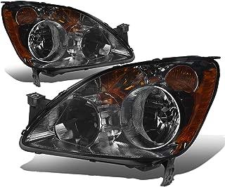 For Honda CRV FD1 FD2 8th Gen Pair of Smoked Lens Amber Corner Replacement Headlight Lamp