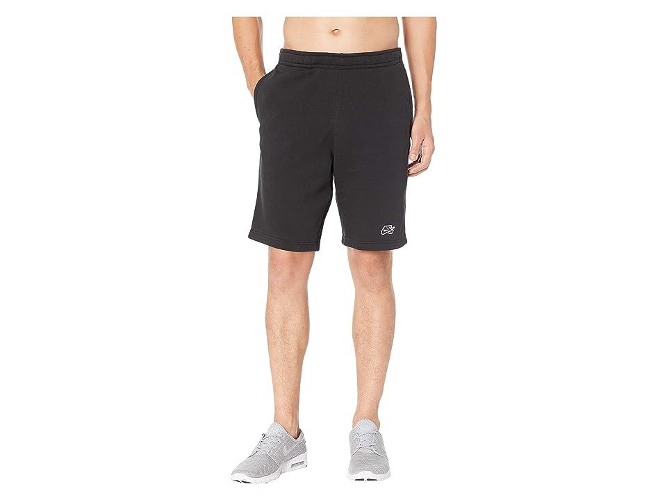 Nike SB SB Icon Fleece Shorts (Black/Black) Men