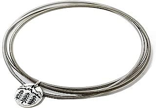 Dia Spring Charm Bracelets – Set of 3 Simple, Inspirational, Boho, Minimalist Bracelets with Wilderness Charm