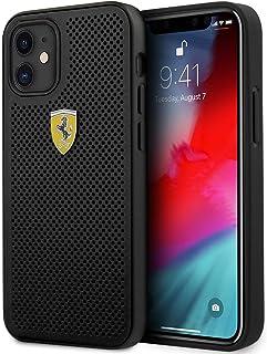 Ferrari On Track Perforated Hard Cover Case for Apple iPhone 12 Mini (5.4) Black