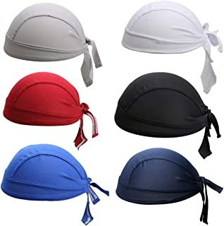 6Pcs/Set Skull Cap Quick Dry Adjustable Beanie Cap Bandana Pirate Scarf Head Wraps Dew Rap Sport Hat Cap for Cycling Motorcycle Running UV Protect
