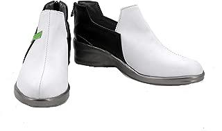 veribuy Halloween Hero Cosplay Shoes Guardian Costume White Cosplay Boots