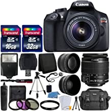 Canon EOS Rebel T6 Digital SLR Camera with 18-55mm EF-S f/3.5-5.6 is II Lens + 58mm Wide..