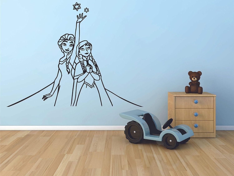 Disney Cartoon Frozen Elsa Anna Wall Sticker Removable Kids Girl Room Decal