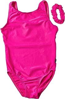 DESTIRA Basic Leotard for Girls Gymnastics, Matching Scrunchie, Child XXS-JR