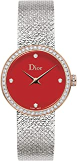 La D De Dior Satone 25mm Quartz Red Lacquered Dial