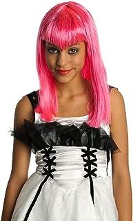 Child's Pink Glitter Vamp Wig