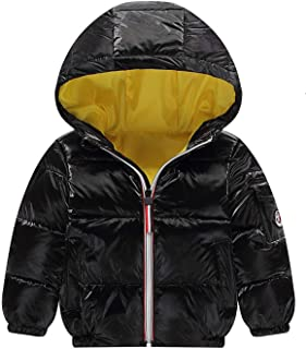 BSbattle 2019 Autumn Children's Keep Warm Coat Kids Soild Down Jackets Child Long Sleeve Hooded Loose Coat