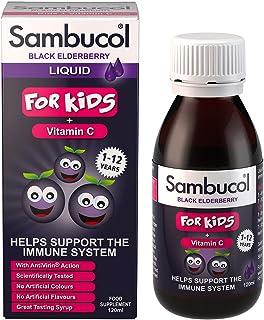 Sambucol Kids Vitamin C Supplement, 120ml, Black Elderberry
