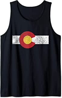 State of Colorado distressed flag gift Tank Top