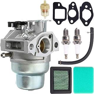 N/C ZAMDOE GCV160 carburador Repuesto Kit para Honda GCV160A GCV160LA GCV160LE Motor HRB216 HRR216 HRS216 HRT216 HRZ216 Cortacésped con bujía, línea de Combustible, Filtro de Combustible, Juntas