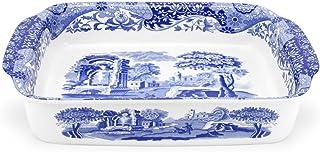 Spode Blue Italian Large Rectangular Handled Dish