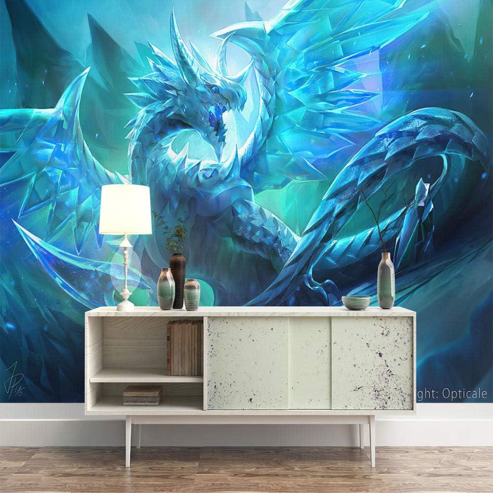 3D Mural Wallpaper 5 popular for Wall DIY Dragon Popular brand De Art Ice
