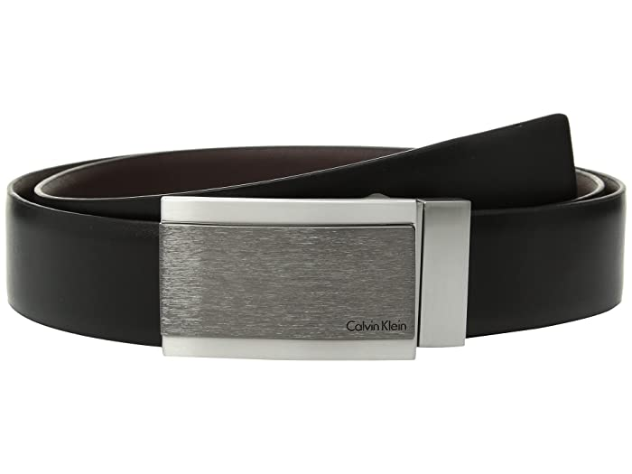 Cole Haan Belt Men BLACK Size 38 Leather New Feather Ege Smooth Panel