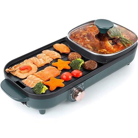 Uten Hot pot griller un pot plateau de cuisson électrique plateau de barbecue friture machine à barbecue ménage multifonction four four électrique…