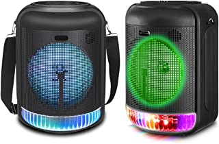 $129 » Sponsored Ad - (Qty 2) Technical Pro 600 Watts Rechargeable 8 Inch Bluetooth LED Speaker with USB, Aux, Mic Inputs, FM Rad...