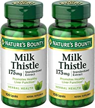 Nature's Bounty Milk Thistle 175mg, 200 Capsules (2 X 100 Count Bottles)