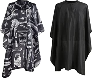 Hairdressing Gown Barbers Cape,Salon Hair Cutting Gown professional Barber Capes Cloth Waterproof with Metal Buckle 145 x ...