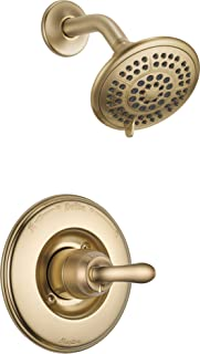 Delta Faucet Linden 14 Series Single-Function Shower Trim Kit with 5-Spray Touch-Clean Shower Head, Champagne Bronze T14294-CZ (Valve Not Included)