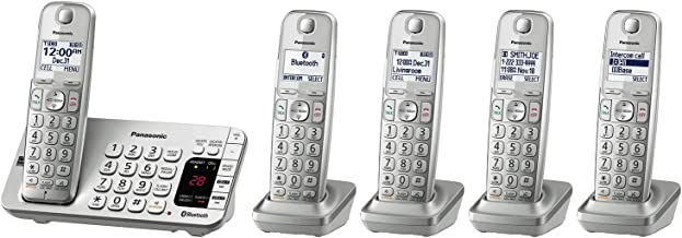 Panasonic Link2Cell Bluetooth Cordless DECT 6.0 Expandable Phone System with Answering Machine and Enhanced Noise Reductio...