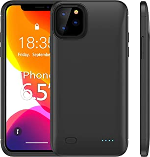 HUOTO Battery Case for iPhone 11 Pro Max,6200mAh External Portable Protective Charging Extended Power Bank Backup Rechargeable Charger Case Compatible with iPhone 11 Pro Max 6.5 inch (Black)