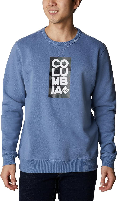 Columbia 2021 autumn and winter new Men's Logo Crew half Fleece