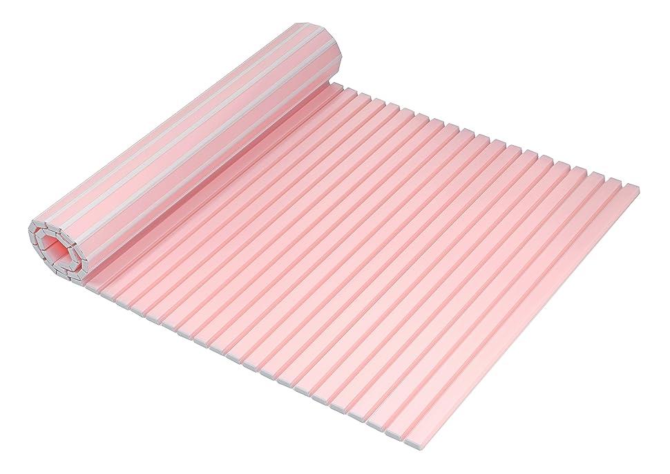 精査櫛ミネラルミエ産業 風呂ふた 軽量 700×1015mm ピンク ラヴィ M10