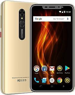 "Moviles Libres 4G, AOYODKG A9+ Android 9.0 Smartphone Libre, 16GB ROM/128GB 5.5"" HD+ Pantalla 4800mAh, Cámara 8MP Touch ID y Face ID Dual SIM GPS Móviles y Smartphones Libres (Oro)"
