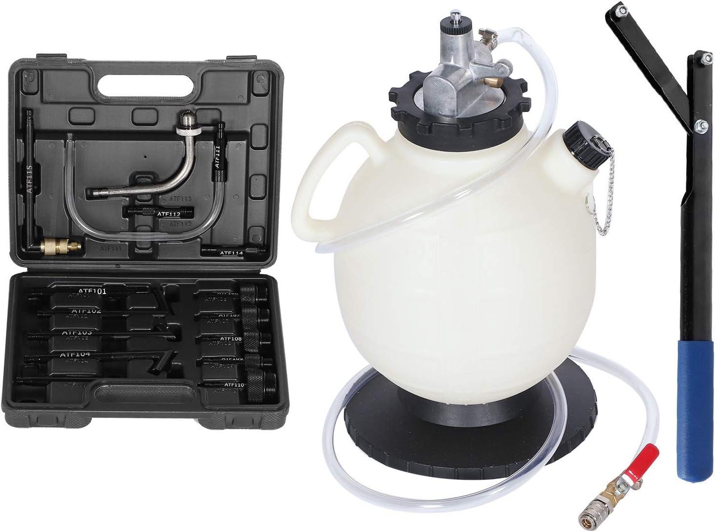 Akozon 7.5L Oil Extractor New product! New type Pump Fluid San Francisco Mall Pneumatic Vacuum Evacuator