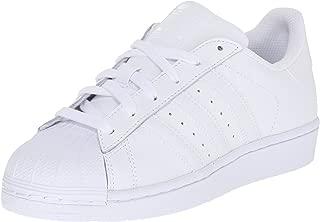 adidas Originals Superstars Running Shoe, Pure White, 5.5 Big Kid